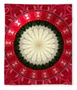 Roses Kaleidoscope Under Glass 19 Fleece Blanket