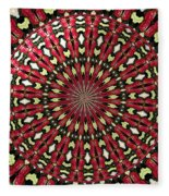 Roses Kaleidoscope Under Glass 21 Fleece Blanket