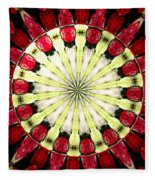 Roses Kaleidoscope Under Glass 23 Fleece Blanket