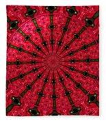 Roses Kaleidoscope Under Glass 24 Fleece Blanket