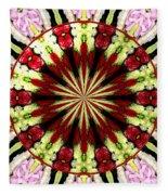 Roses Kaleidoscope Under Glass 25 Fleece Blanket