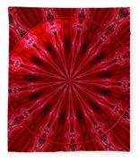 Roses Kaleidoscope Under Glass 26 Fleece Blanket
