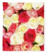 Roses Of Love Fleece Blanket
