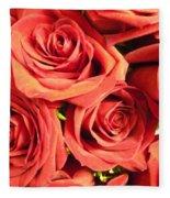 Roses On Your Wall Fleece Blanket