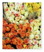 Roses 01 Fleece Blanket