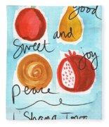 Rosh Hashanah Blessings Fleece Blanket