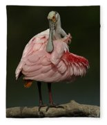 Rosiette Spoonbill Fleece Blanket