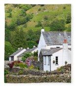 Rosthwaite In The Valley Of Borrowdale Lake District Fleece Blanket