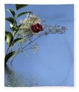 Rosy Reflection - Left Side Fleece Blanket