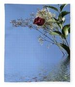 Rosy Reflection - Right Side Fleece Blanket