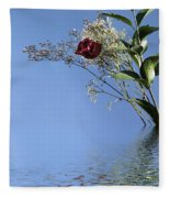 Rosy Reflection - Right Side Fleece Blanket