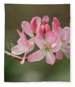 Rosy Rhododendron Fleece Blanket