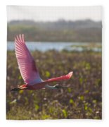 Rosy Soar Fleece Blanket