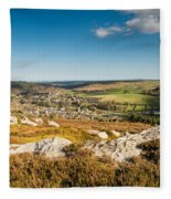 Rothbury Town From The Terraces Fleece Blanket