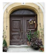 Rothenburg Ob Der Tauber Door  Fleece Blanket