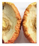 Rotten Apple Halves Fleece Blanket