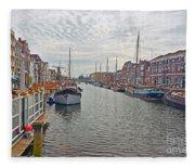 Rotterdam Canal Fleece Blanket