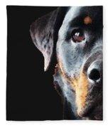Rottie Love - Rottweiler Art By Sharon Cummings Fleece Blanket