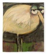 Rotund Bird Fleece Blanket