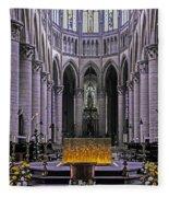 Rouen Cathedral  Fleece Blanket