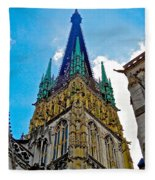 Rouen Church Steeple Fleece Blanket