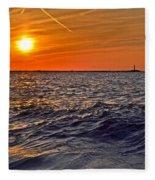 Rough Sea Fleece Blanket