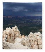 Rough Skys Over Bryce Canyon Fleece Blanket