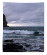Rough Surf At Split Rock Fleece Blanket