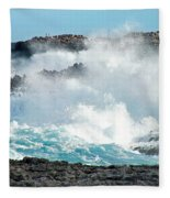 Rough Waves Offshore Whale Point Fleece Blanket