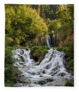 Roughlock Falls South Dakota Fleece Blanket