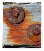 Round And Rusted Fleece Blanket