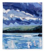 Round Lake Squall Fleece Blanket