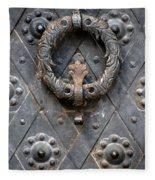 Round Metal Doorknob Fleece Blanket