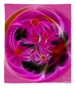 Round Pink And Pretty By Kaye Menner Fleece Blanket