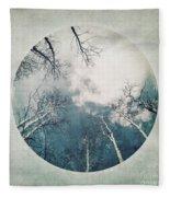 round treetops III Fleece Blanket