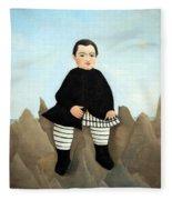 Rousseau's Boy On The Rocks Fleece Blanket