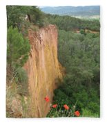 Roussillon Red Rock Landscape Fleece Blanket
