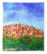 Roussillon Village Fleece Blanket