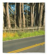 Route 1, Mendocino, California Fleece Blanket