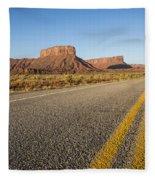 Route 128 Near Castle Valley Fleece Blanket