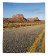Route 128 Near Castle Valley Fleece Blanket