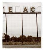 Route 66 - Abandoned Texaco Station Fleece Blanket
