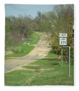 Route 66 - Alanreed Texas Fleece Blanket