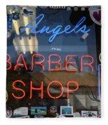 Route 66 - Angel's Barber Shop Fleece Blanket