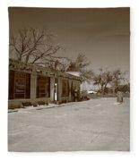 Route 66 - Bent Door Cafe Fleece Blanket