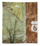 Route 66 Brick And Mortar Fleece Blanket