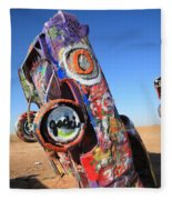 Route 66 Cadillac Ranch Fleece Blanket