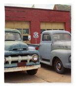 Route 66 Classic Cars Fleece Blanket