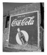 Route 66 - Coca Cola Ghost Mural Fleece Blanket
