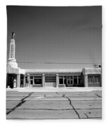 Route 66 - Conoco Tower Station 4 Fleece Blanket